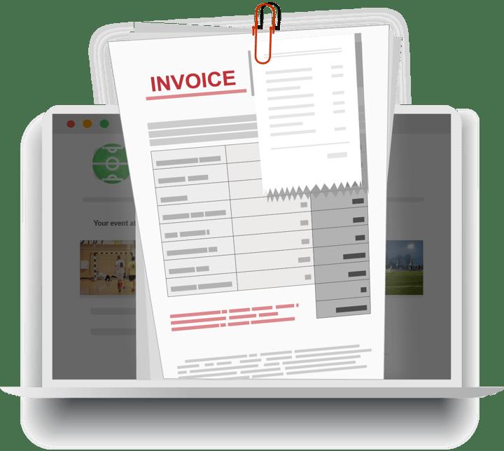 invoice - laptop cartoon
